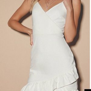 Lulu's Sealed with a Kiss white bodycon dress